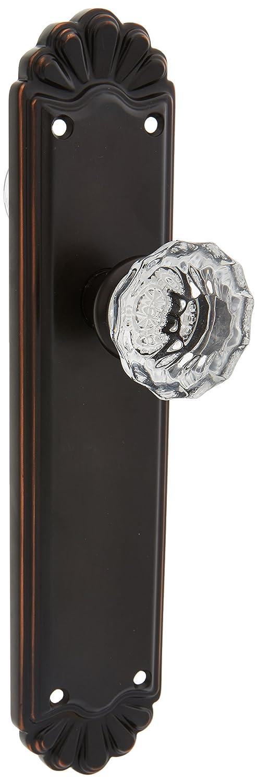 Emtek 8202ASUS15 Doorsets Belmont Plate Set With Astoria Crystal Door Knobs Privacy Satin Nickel