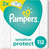 Pampers Sensitive Baby Wipes, Dual Pack, 112 Count