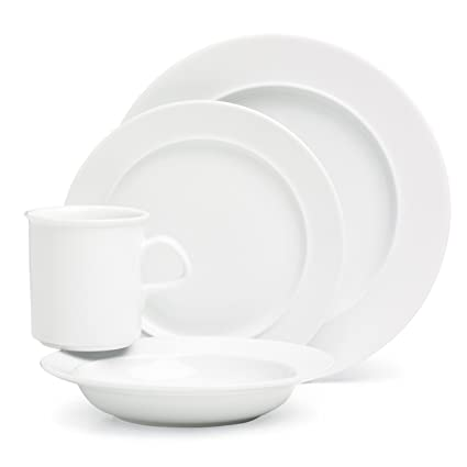 Dansk Cafe Blanc 4 Piece Place Setting  sc 1 st  Amazon.com & Amazon.com: Dansk Cafe Blanc 4 Piece Place Setting: Dinnerware Sets ...