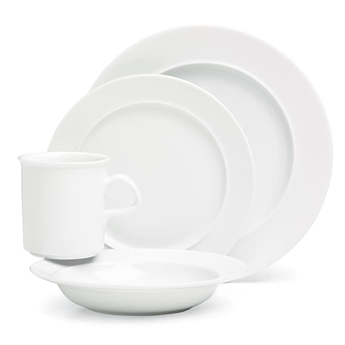 Amazon.com Dansk Cafe Blanc 4 Piece Place Setting Dinnerware Sets Kitchen \u0026 Dining  sc 1 st  Amazon.com & Amazon.com: Dansk Cafe Blanc 4 Piece Place Setting: Dinnerware Sets ...