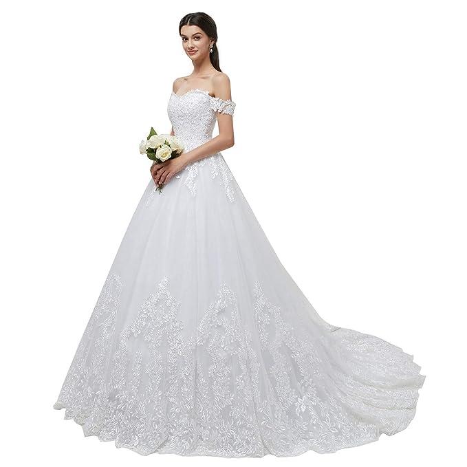 Amazon.com: Leyidress Vestido de boda para mujer, vestido de ...
