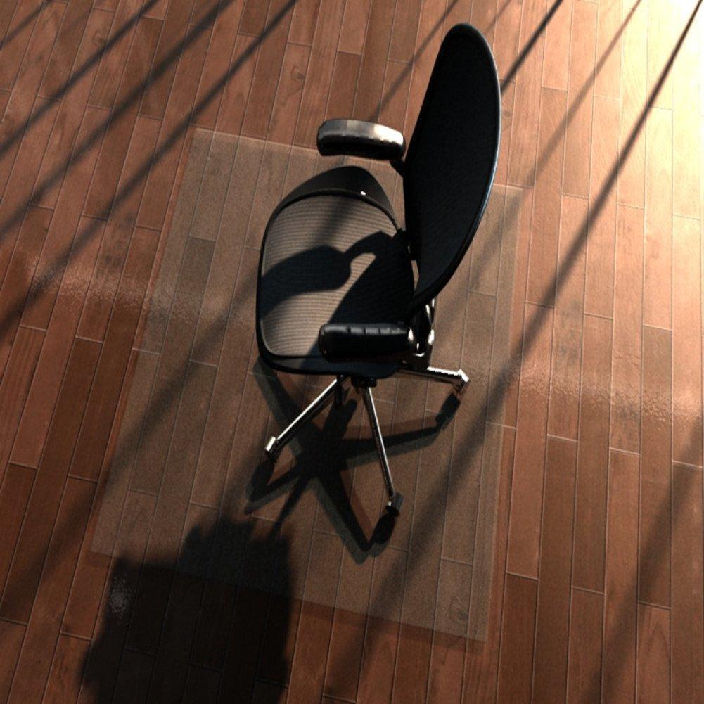 Decorativo Alfombra PVC Transparente Pad Tatami Ordenador Silla cojín para Suelo de Madera Protección Alfombrillas Almohadilla de Silla de Oficina giratoria ...