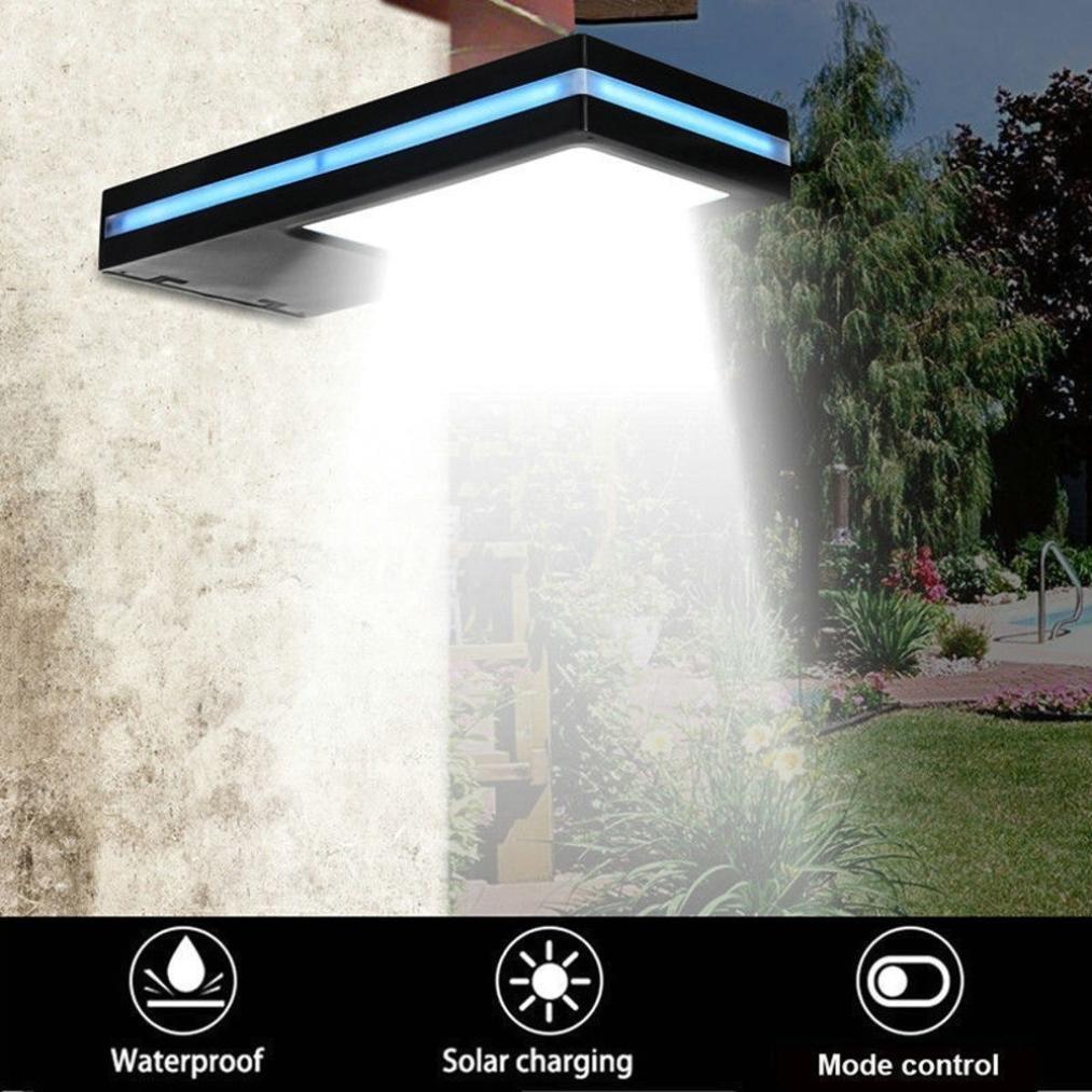 LiPing 144LED Outdoor Decorative Lights-Solar Powered Motion Sensor Garden Security Lamp Outdoor Waterproof Light Human Infrared Sensor (A)