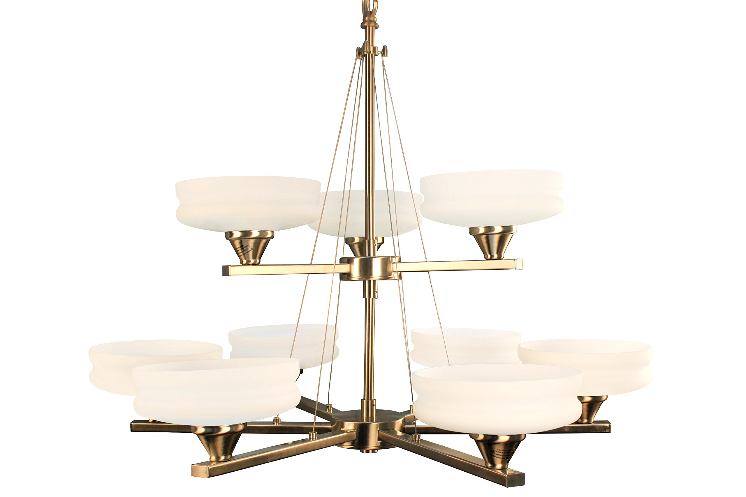 Ulextra Traditional and Modern Chandelier Pendant Lighting for Dining Room, Living Room, Kitchen, Study (8 styles) (SATIN CHROME-155)