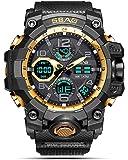 SBAO Analogue-Digital Multifunctional Outdoor Sports Dual Time Multi-Colour Dial Men's & Boy's Watch - (SB-447)