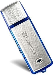 Voice Recorder Metall Gehäuse Schlüsselanhänger Digital Diktiergerät – 96 Stunden Kapazität Akku Sound Audio USB Mini Digital Voice Recorder//MP3-Player Stimme aktiviert Aufnahme Gerät 16 GB VOONEEN Silber