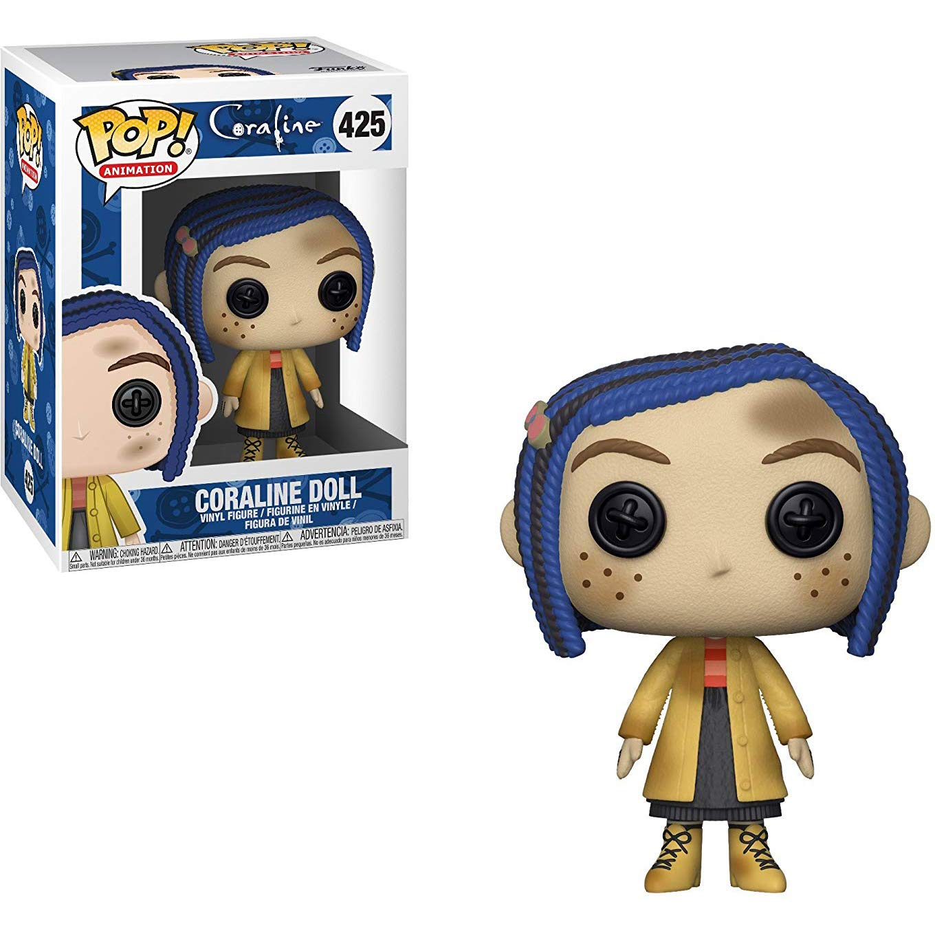 Funko Coraline Doll Animation Vinyl Figure /& 1 PET Plastic Graphical Protector Bundle #425 // 32980 - B Coraline x POP