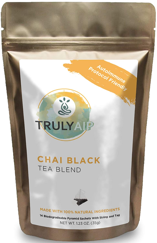 Chai Latte Tea Blend - AutoImmune Protocol Compliant, Sugar Free & Anti Inflammatory Food - Whole 30, Paleo Diet Friendly - All Natural Ingredients (Chai, 14 Bags)
