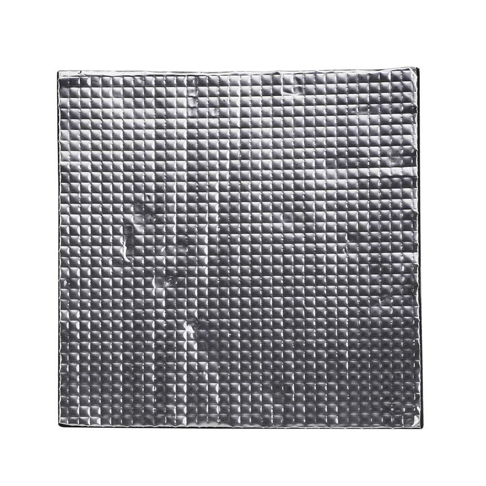 Hemobllo Stampante 3D Letto riscaldante isolante in cotone espanso Resistente alle alte temperature adesivo isolante Mat Accessorio stampante 3D - Nero (200x200x10mm)
