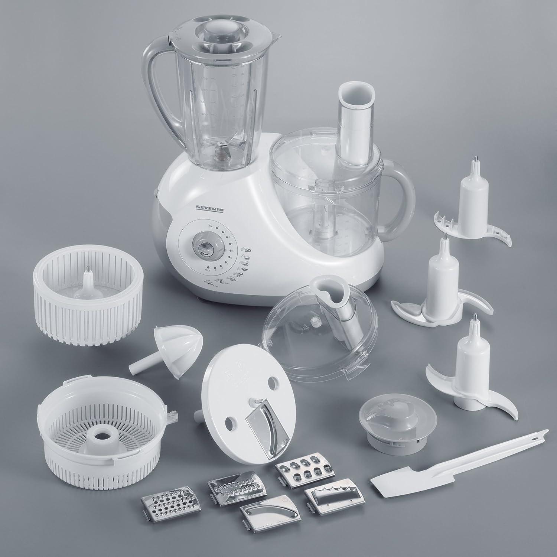 Severin KM3887, Blanco, 430 mm, 400 mm, 220 mm, Acero inoxidable - Robot de cocina: Amazon.es: Hogar