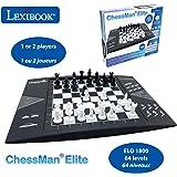 LEXIBOOK electrónico (CG1300) ChessMan Elite ajedrez inteligente, 64 niveles de dificultad, LED, juego de mesa infantil…