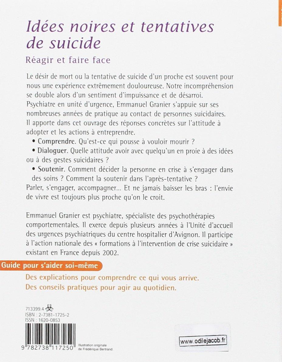 Amazon.fr , Idées noires et tentatives de suicide , Emmanuel Granier ,  Livres
