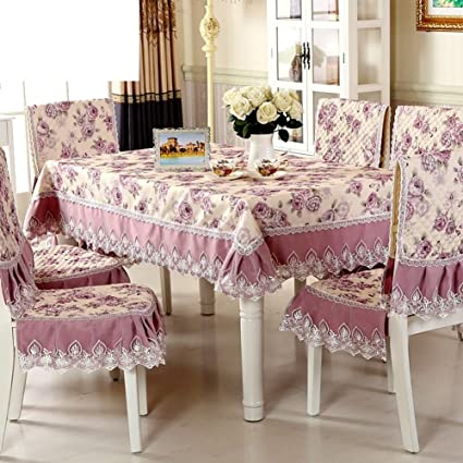 Amazon.com: fabrics / garden tablecloth/Pad Dining chairs ...