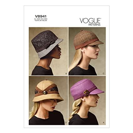 Vogue Patterns V8941 Hats Sewing Template All Sizes Amazon
