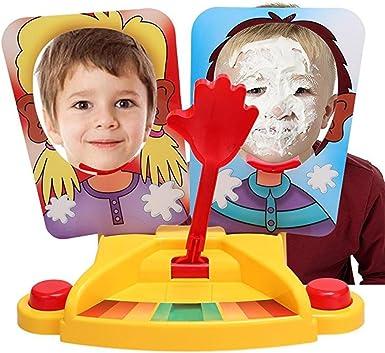 Lonlier Juego de Mesa para 2 Jugadores Pie Cara de Chantilly para niño y Adulto Juego Familiar: Amazon.es: Ropa y accesorios