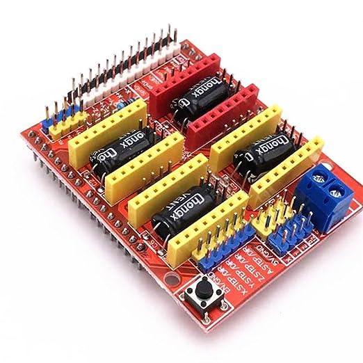 CNC Shield - Placa de expansión para grabador de impresora 3D Arduino A4988