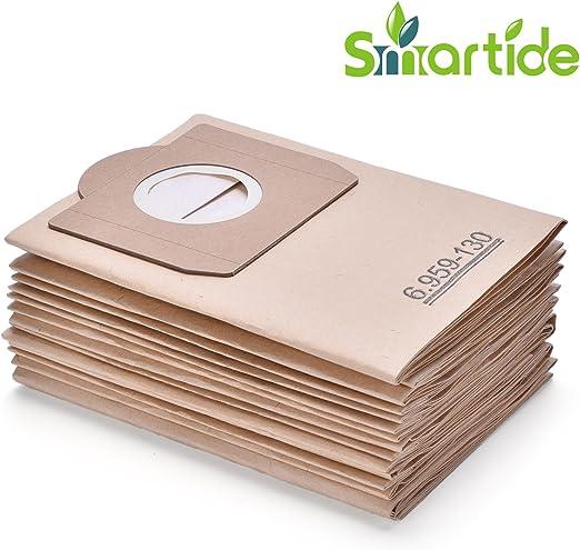 Smartide Bolsa de aspiradora adecuada para bolsas de filtro de papel Kärcher 6.959-130.0 (12 piezas) A 2201/2204/2504: Amazon.es: Hogar