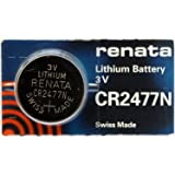 Pile bouton CR2477N lithium 3V 950 mAh Renata