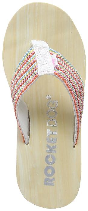 150d518b Rocket Dog Womens Diver Groovy Stripe Wedge Sandal Bubblegum Size UK 4 EU 37