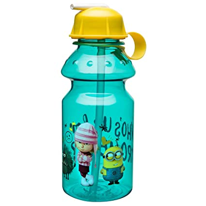 138df603e4 Amazon.com: Zak Designs Despicable Me 14oz Kids Water Bottle with Straw - BPA  Free with Easy Clean Design, Despicable Me: Kitchen & Dining