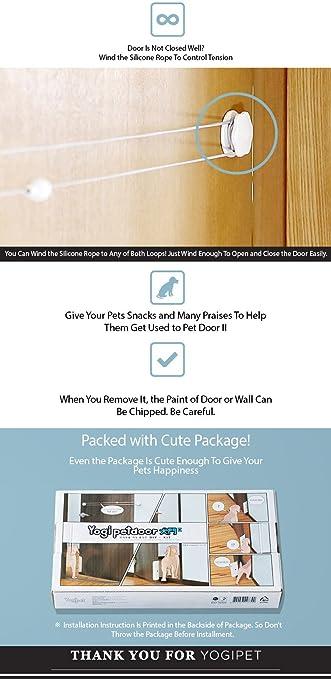 amazon yogipet pet door 犬 猫 ペットドア 工事不要 取付型 ペット用