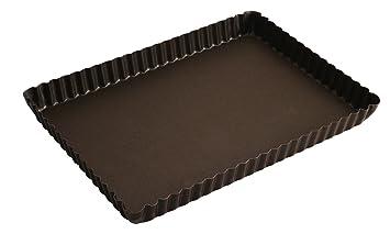 Gobel 225710 Moule à tarte Rectangulaire 29 20,5 cm bord Cannelé Fond Fixe 20cbab9d172a