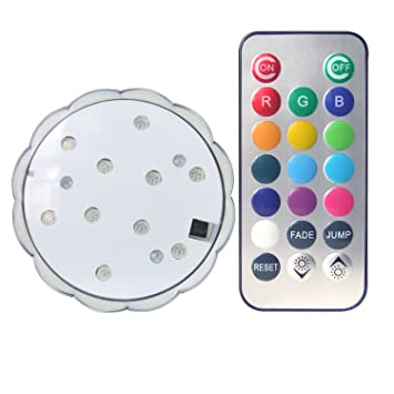 Amazon donbala ir remote control multi color led puck light donbala ir remote control multi color led puck light wedding centerpiece light base vase light led aloadofball Gallery