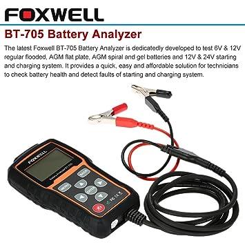 FOXWELL BT-705 - Analizador de Batería 12V/24V Diagnóstico ...
