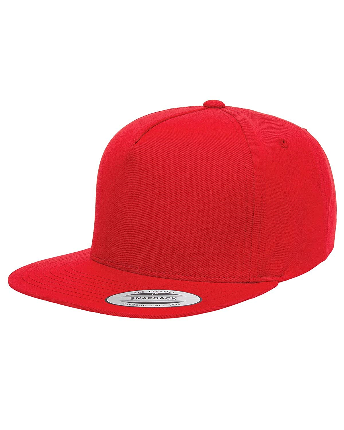 1449358f99d62 Amazon.com  Yupoong Men s 5-Panel Cotton Twill Snapback Cap