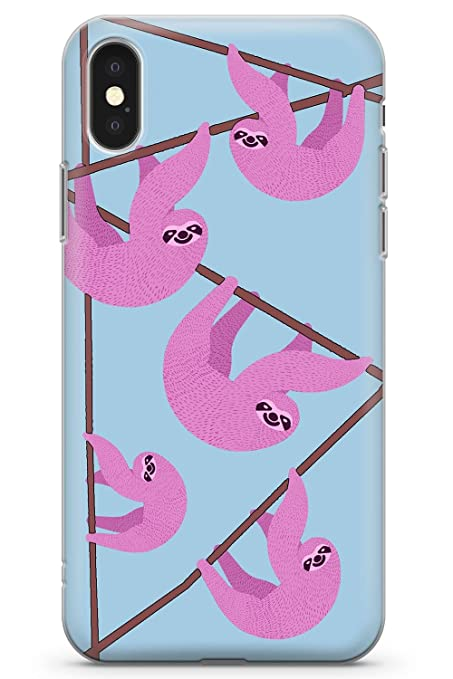 pretty nice b9ac8 c9186 Amazon.com: Case Warehouse iPhone 10 Case, iPhone X Case, Pink Sloth ...