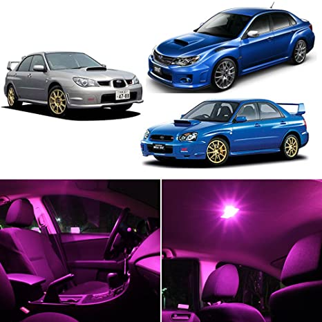 LEDpartsNOW Subaru WRX STI 2004 2017 Pink Premium LED Interior Lights  Package Kit (8