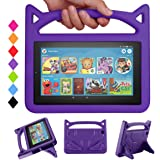 New 7 Tablet Case for Kids-SHREBORN Lightweight Shock Proof Kids Friendly Case with Stand Handle for All-New 7 Tablet(2019 &