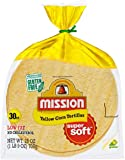 Mission, Yellow Corn Tortillas, 30 Count, 25oz Bag (Pack of 2)