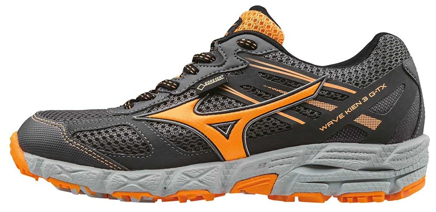 Mizuno Damen Wave Kien 3 G-TX (w) Laufschuhe, Grau (Dark Shadow/Orange Pop/High-Rise), 41 EU