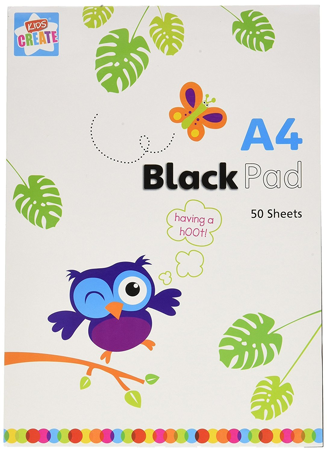 Kids Create: A4 Drawing Black Paper Pad A4 Drawing 50 Black Sheets ...