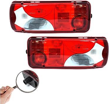2x 12v 24v Rücklicht Rückleuchte Heckleuchte Lkw Pkw Pritsche Anhänger Sattelschlepper Fahrgestell Auto