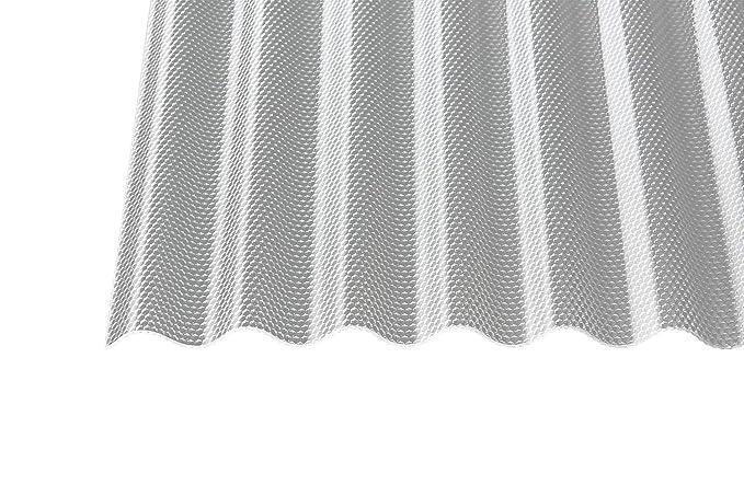 Polycarbonat Wellplatten Profilplatten Sinus 76//18 wabe Struktur klar 4000 x 1045 x 2,8 mm