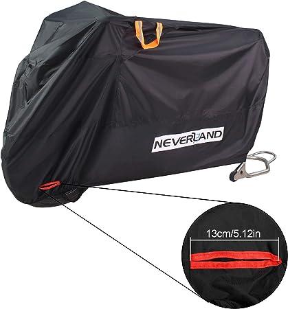 NEVERLAND L XL XXL Waterproof Motorcycle Cover Motorbike Outdoor Rain Protector