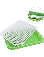 Ounona, vassoio di germinazione in plastica, senza terra, per erba di grano, fagiolo Mung