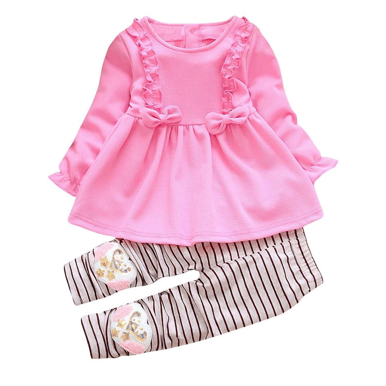 Sunenjoy 2 PCs Enfant Bébé Fille Arc robe + Pant Princesse Enfant Ensemble Vêtements Robe