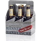 Sixpack 2 x Arschlecken 350, 2 x Hopfensprudel, 2 x Hopfensmoothie in der Männerhandtasche Original ML Helles in 0,33 Liter Flaschen (insgesamt 6) Alc.5,2% vol.