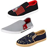 Bersache Men Combo Pack of 3 Loafers & Moccasins
