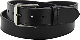 "product image for Men's Black Leather Travel Money Belt With 25"" Zipper - 1.50"" Wide"