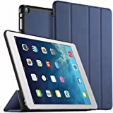 EasyAcc Ultra Slim iPad Air Smart Case Cover with Stand / Auto Sleep Wake-up for iPad Air 2013 (Model Nummer A1474 A1475 A1476) (Top Premium PU Leather, Folded Cover Design, Blue)