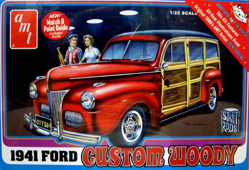 AMT 1:25 Scale 1941 Ford Woody Street Rod Model Kit