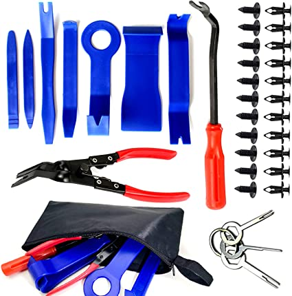 12PC CAR AUTO BODY MOULDING DOOR TRIM CLIP REMOVER PANEL REMOVAL TOOLS TOOL KIT