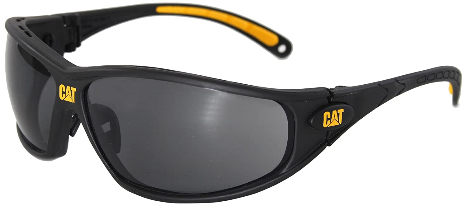 safety sunglasses  Caterpillar Tread Safety Glasses, Black and Yellow, Blue Mirror ...