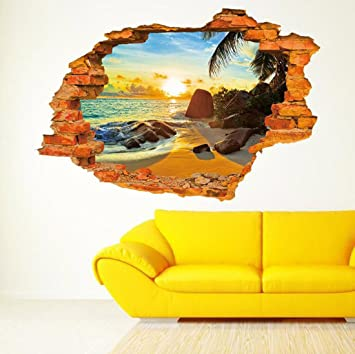 Amazon.com: Sajanic Creative 3D Wall Stickers Sunset /Sun rise ...