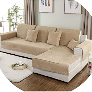 Simple Sofa Cover Set Combination Kit Cushion Pillowcase Waterproof On-Slip Sectional Sofa Cover for Living Room,15,90x260 cm