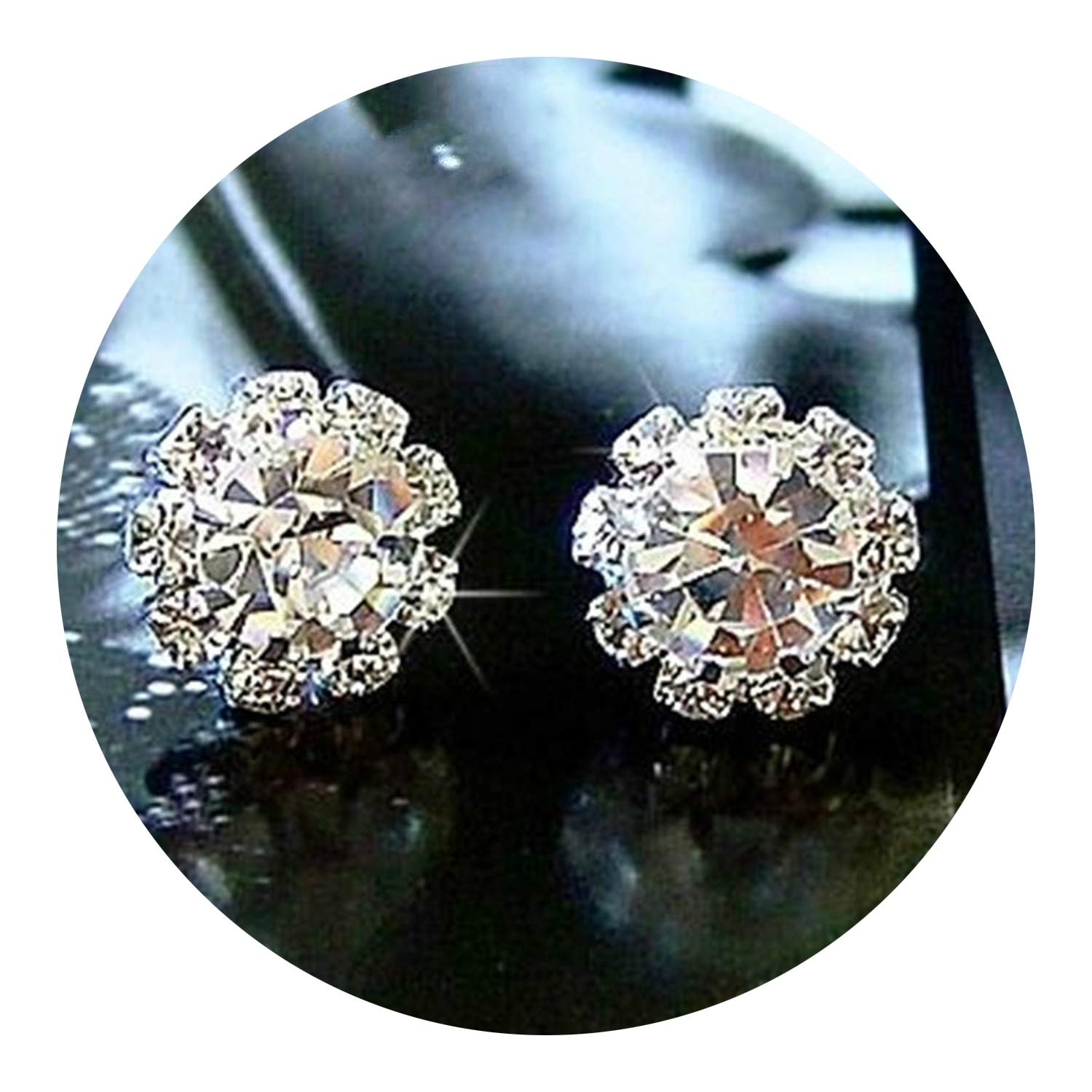 new fashion sparkling earrings sunflowers zircon imitation jewelry accessories wedding gift for girls